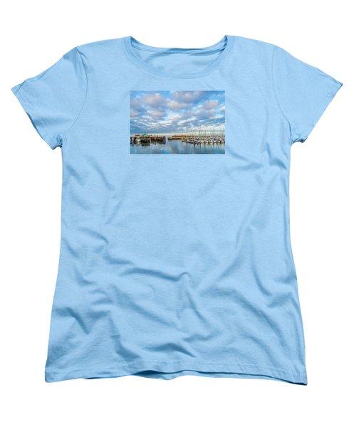 A Cloudy Day In Monterey Women's T-Shirt (Standard Cut) by Derek Dean