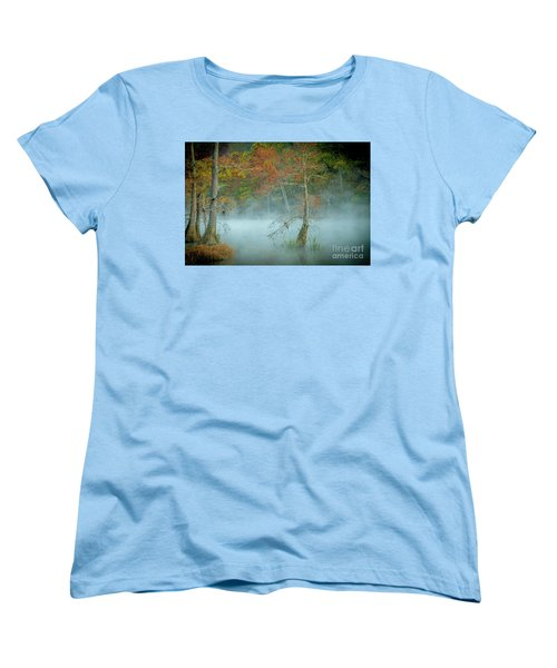 Women's T-Shirt (Standard Cut) featuring the photograph A Dancing Cypress by Iris Greenwell