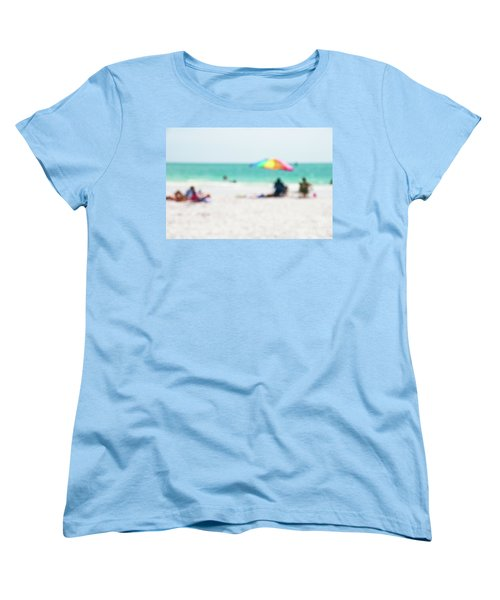 Women's T-Shirt (Standard Cut) featuring the photograph a day at the beach IV by Hannes Cmarits