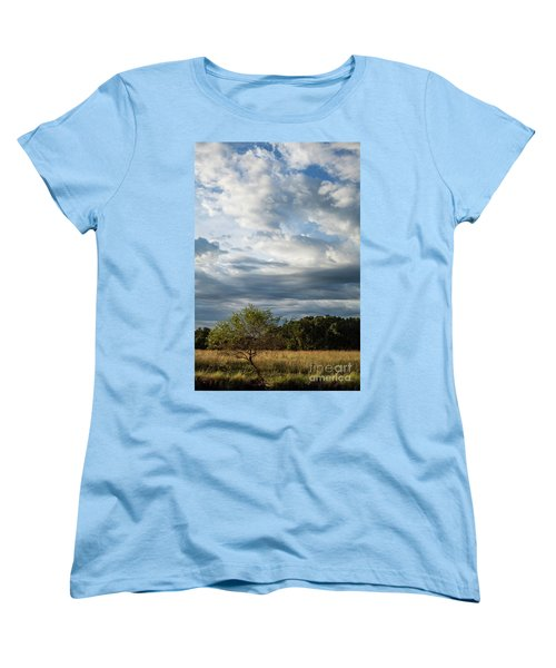 Women's T-Shirt (Standard Cut) featuring the photograph A Day In The Prairie by Iris Greenwell