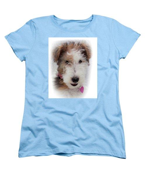 Women's T-Shirt (Standard Cut) featuring the photograph A Dog Named Butterfly by Karen Wiles