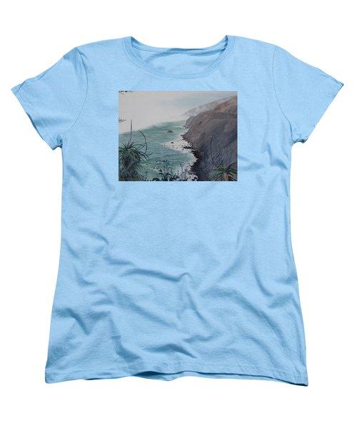 A Fog Creeps In Women's T-Shirt (Standard Cut) by Barbara Barber