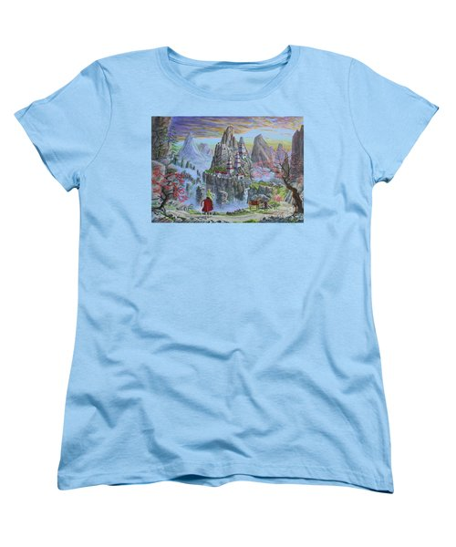 A Journey's End Women's T-Shirt (Standard Cut) by Anthony Lyon