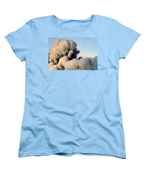 Women's T-Shirt (Standard Cut) featuring the photograph A Lick Of Snow On The Bush by Paul SEQUENCE Ferguson             sequence dot net