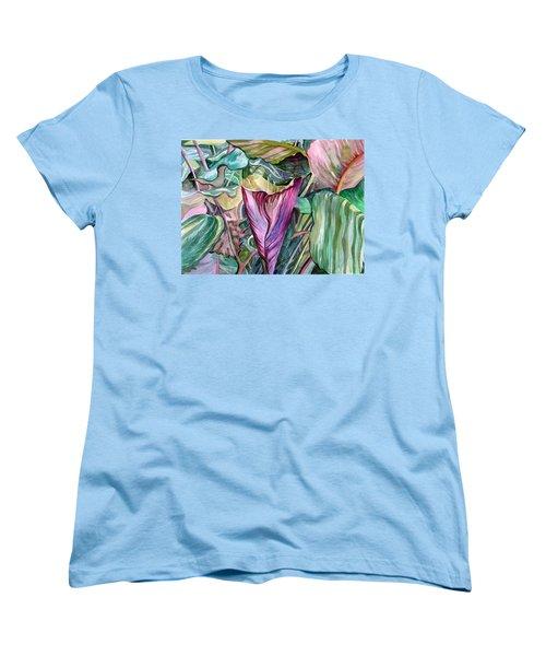 A Light In The Garden Women's T-Shirt (Standard Cut) by Mindy Newman