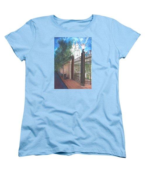 A Light Unto The World Women's T-Shirt (Standard Cut) by Jane Autry