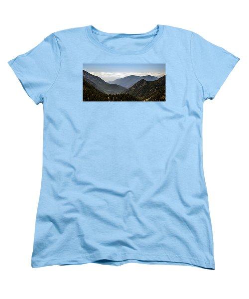 A Lofty View Women's T-Shirt (Standard Cut) by Ed Clark