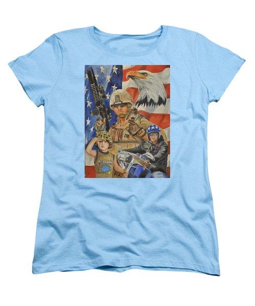 A Marine's Marine Women's T-Shirt (Standard Cut) by Ken Pridgeon