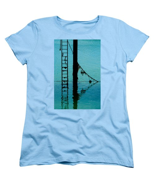Women's T-Shirt (Standard Cut) featuring the photograph A Modicum Of Maritime Minimalism by Chris Lord