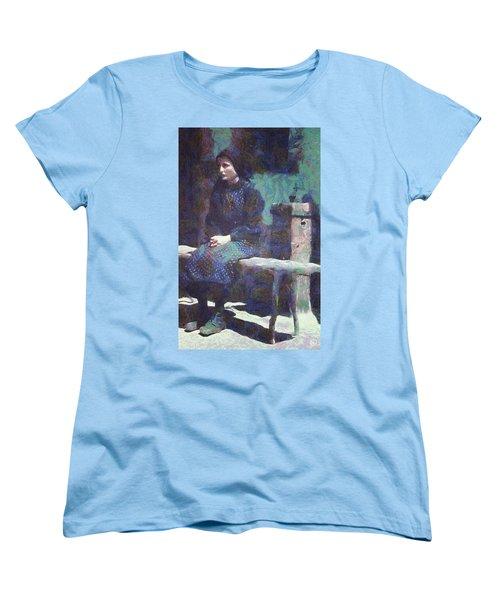 Women's T-Shirt (Standard Cut) featuring the digital art A Moment Of Meditation by Gun Legler