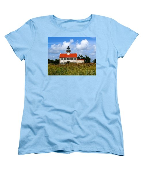 A New Day At East Point Light Women's T-Shirt (Standard Cut) by Nancy Patterson
