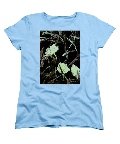 A Noir Mystery Tulip Trio Women's T-Shirt (Standard Cut) by Nancy Kane Chapman