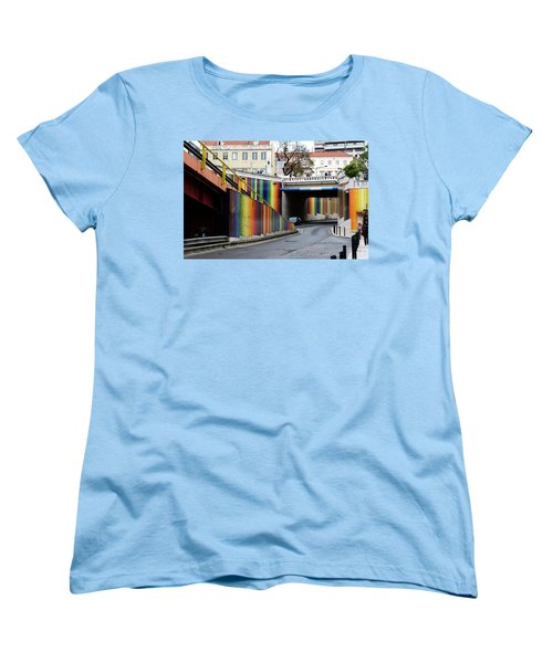 A Throughway Of Many Colors Women's T-Shirt (Standard Cut) by Lorraine Devon Wilke