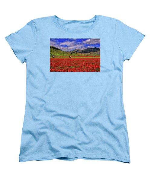 A Poppyy Dream Women's T-Shirt (Standard Cut) by Midori Chan