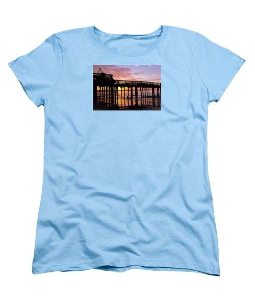 Women's T-Shirt (Standard Cut) featuring the photograph A Quiet And Beautiful Start by Lora Lee Chapman