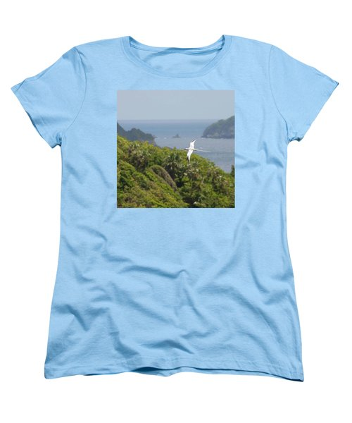 A Red-billed Tropicbird (phaethon Women's T-Shirt (Standard Cut) by John Edwards