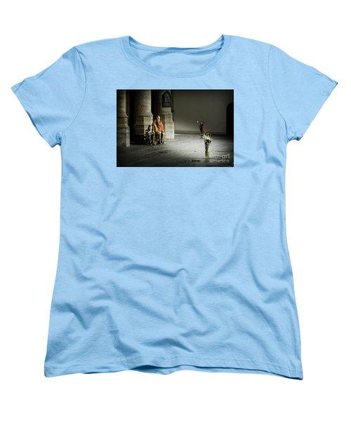 Women's T-Shirt (Standard Cut) featuring the photograph A Scene In Oude Kerk Amsterdam by RicardMN Photography