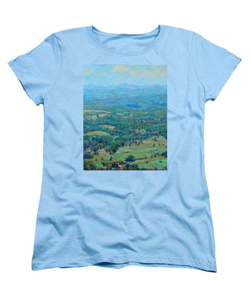A Slow Summer's Day- View From Roanoke Mountain Women's T-Shirt (Standard Cut) by Bonnie Mason