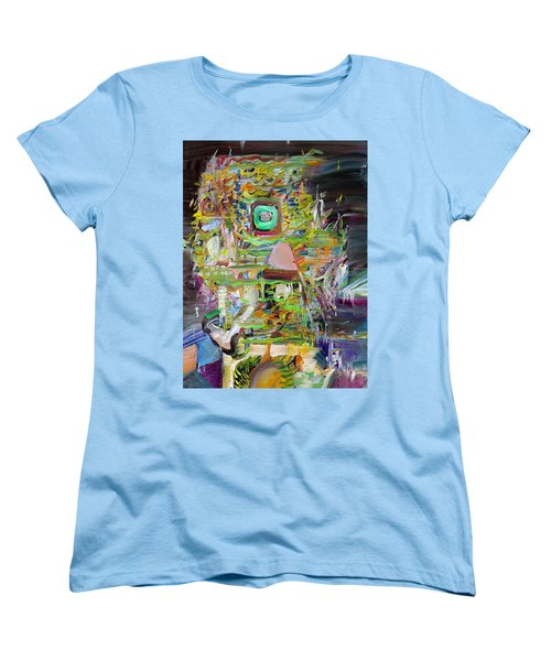 Women's T-Shirt (Standard Cut) featuring the painting A Small Portion Of Herself by Fabrizio Cassetta