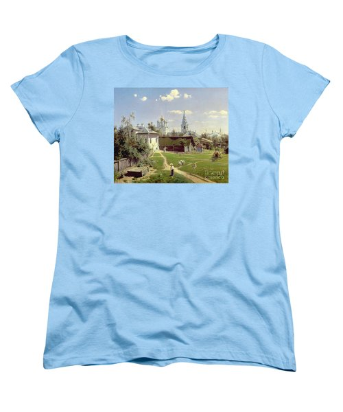 A Small Yard In Moscow Women's T-Shirt (Standard Cut) by Vasilij Dmitrievich Polenov