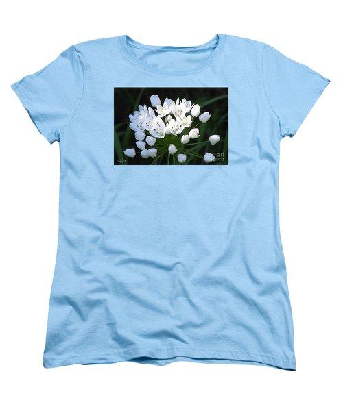 A Spray Of Wild Onions Women's T-Shirt (Standard Cut) by Felipe Adan Lerma