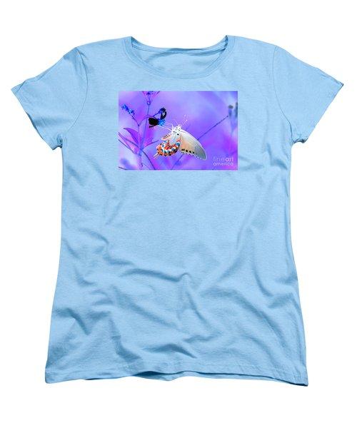 A Strange Butterfly Dream Women's T-Shirt (Standard Cut) by Kim Pate
