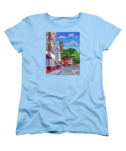 A Stroll On Melville Street Women's T-Shirt (Standard Cut) by Laura Forde