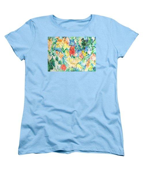 A Summer Garden Frolic Women's T-Shirt (Standard Cut) by Esther Newman-Cohen