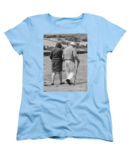 Women's T-Shirt (Standard Cut) featuring the photograph A Sunday Stroll In The Country by Linsey Williams
