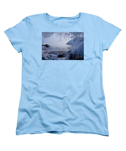 A Superior Ice Cave Women's T-Shirt (Standard Cut) by Sandra Updyke