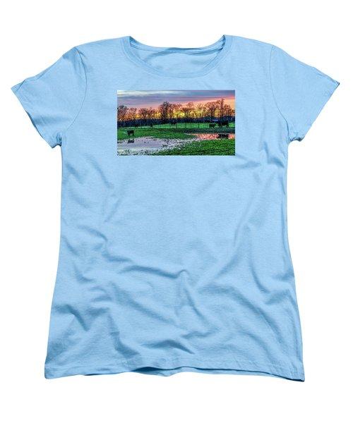 A Time For Reflection Women's T-Shirt (Standard Cut) by Jeffrey Friedkin