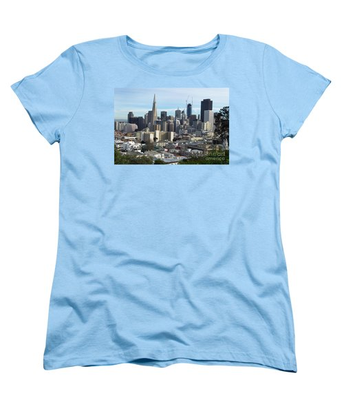 Women's T-Shirt (Standard Cut) featuring the photograph A View Of Downtown From Nob Hill by Steven Spak