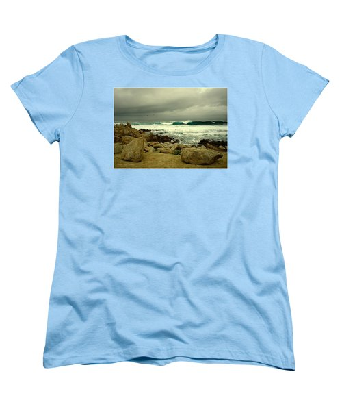 Women's T-Shirt (Standard Cut) featuring the photograph A Winter Day At The Beach by Joyce Dickens