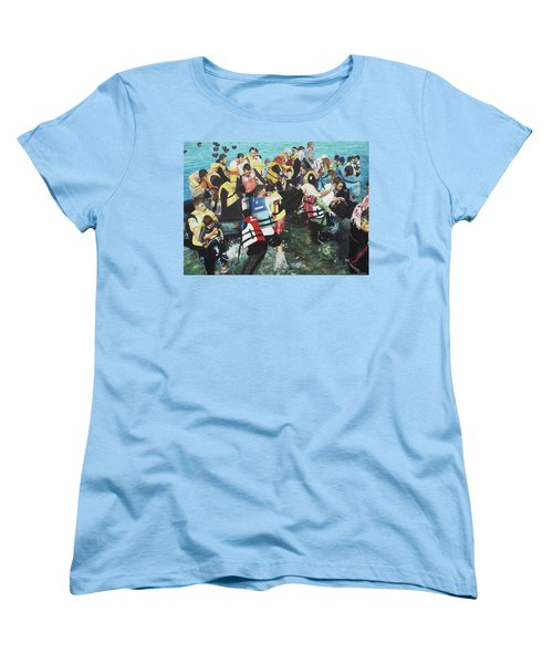 Women's T-Shirt (Standard Cut) featuring the painting Abandoned Souls by Eric Kempson