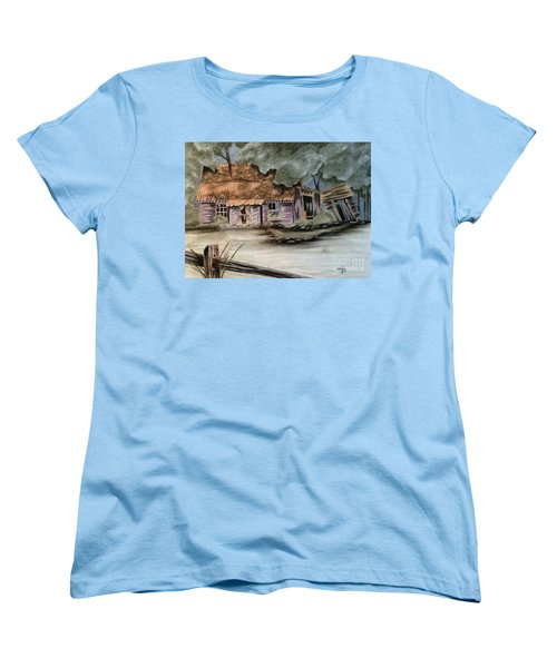 Women's T-Shirt (Standard Cut) featuring the drawing Abandoned by Terri Mills