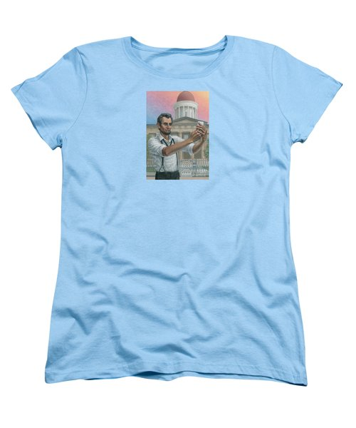 Abe's 1st Selfie Women's T-Shirt (Standard Cut) by Jane Bucci