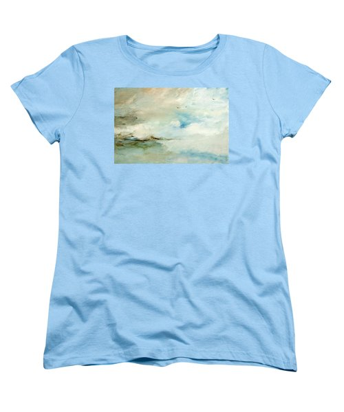 Women's T-Shirt (Standard Cut) featuring the painting Above It All by Dina Dargo
