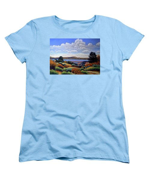 Women's T-Shirt (Standard Cut) featuring the painting Above San Mateo by Gary Coleman