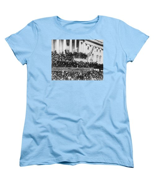 Abraham Lincoln Gives His Second Inaugural Address - March 4 1865 Women's T-Shirt (Standard Cut) by International  Images