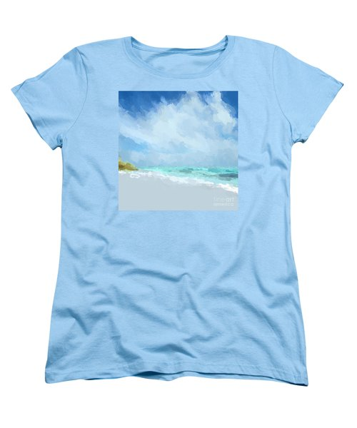 Abstract Beach Afternoon  Women's T-Shirt (Standard Cut) by Anthony Fishburne