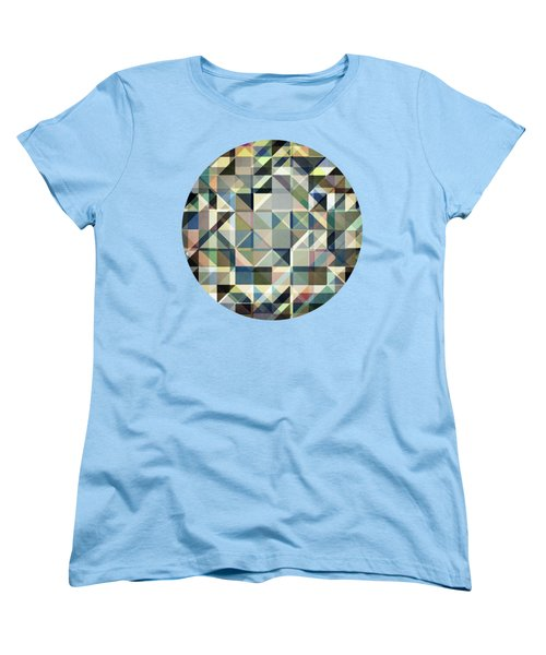 Abstract Earth Tone Grid Women's T-Shirt (Standard Cut) by Phil Perkins