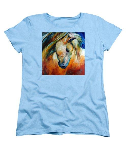 Abstract Equine Eccense Women's T-Shirt (Standard Cut) by Marcia Baldwin