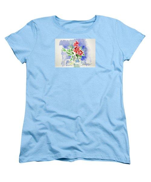Abstract Flowers Women's T-Shirt (Standard Cut)