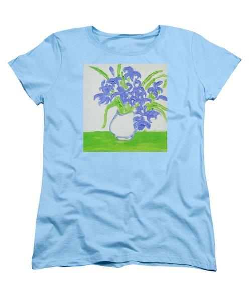 Abstract Iris Women's T-Shirt (Standard Cut) by Hae Kim