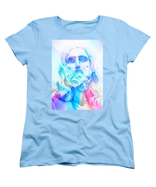 Women's T-Shirt (Standard Cut) featuring the painting Abstract Jesus 3 by J- J- Espinoza