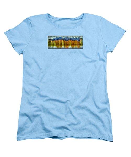 Junkyard Abstract Women's T-Shirt (Standard Cut) by Walt Foegelle