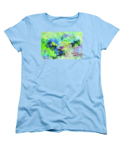 Women's T-Shirt (Standard Cut) featuring the painting Abstract Landscape Painting by Ayse Deniz