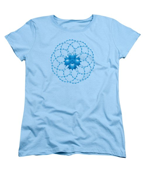 Abstract Lotus Flower Symbol Women's T-Shirt (Standard Cut) by Serena King