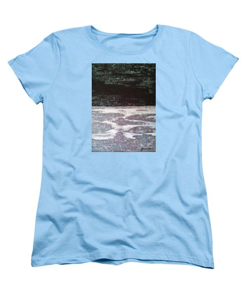 Women's T-Shirt (Standard Cut) featuring the painting Abstract Nail Polish Jg7 by Jasna Gopic
