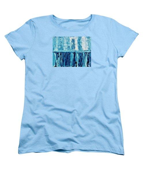 Abstract Niagra Falls Women's T-Shirt (Standard Cut) by Marsha Heiken